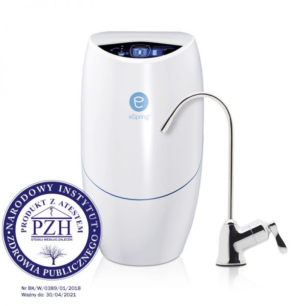 System oczyszczania wody z własnym kranikiem do wody filtrowanej eSpring™