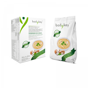 Zupa o smaku pieczarkowym z pietruszką zastępująca posiłek bodykey by NUTRILITE